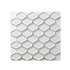 Porcelain Mosaic 46x60mm - Gloss White Recessed Diamond