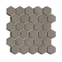 Porcelain Mosaic 51x51mm - Hexagon Taupe