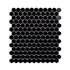 Porcelain Mosaic 23x23mm - Mini Hex Gloss Black