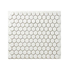 Porcelain Mosaic 23x23mm - Mini Hex Matt White