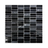 4mm marble/glass Mosaic 305x305mm - Charcoal Soldier